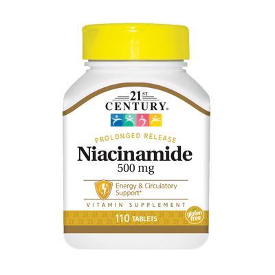 21st Century Niacinamide 500 mg, 110 таблеток