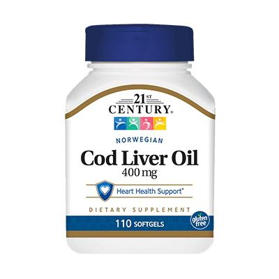 21st Century Norwegian Cod Liver Oil, 110 капсул