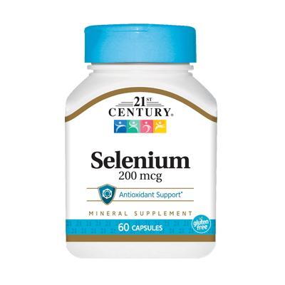 21st Century Selenium 200 mcg, 60 капсул