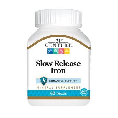 21st Century Slow Release Iron, 60 таблеток