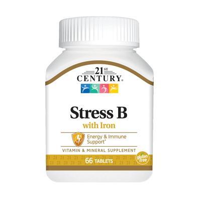 21st Century Stress B with Iron, 66 таблеток