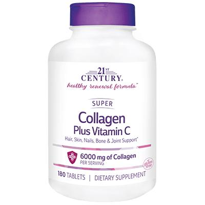 21st Century Super Collagen Plus Vitamin C 6000 mg, 180 таблеток