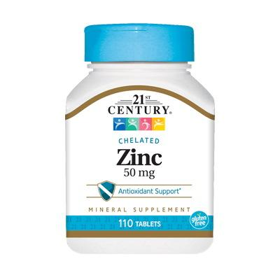 21st Century Zinc 50 mg, 110 таблеток