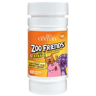 21st Century Zoo Friends with Extra C, 60 таблеток