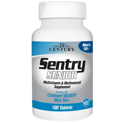 21st Century Sentry Senior Mens 50+, 100  таблеток