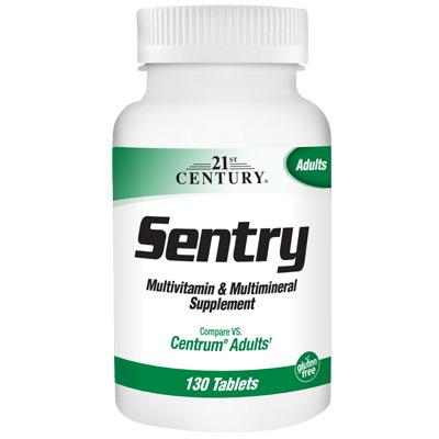 21st Century Sentry Multivitamin & Multimineral, 130 таблеток