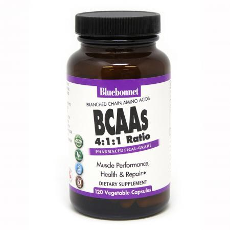 Bluebonnet BCAAs, 120 капсул