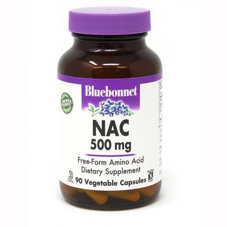 Bluebonnet Nutrition NAC 500 mg, 90 капсул