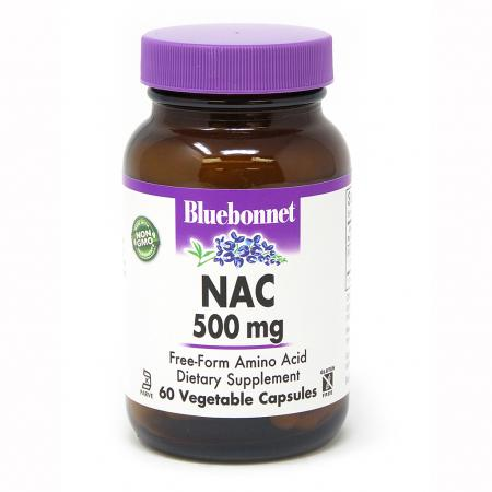 Bluebonnet Nutrition NAC 500 mg, 60 капсул