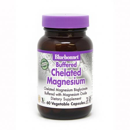 Bluebonnet Nutrition Buffered Chelated Magnesium 200 mg, 60 вегакапсул