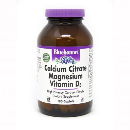Bluebonnet Calcium Citrate Magnesium Vitamin D3, 180 каплет