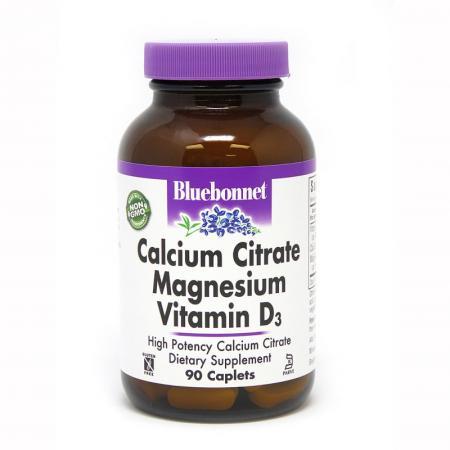 Bluebonnet Calcium Citrate Magnesium Vitamine D3, 90 каплет