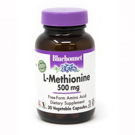 Bluebonnet L-Methionine 500 mg, 30 вегакапсул