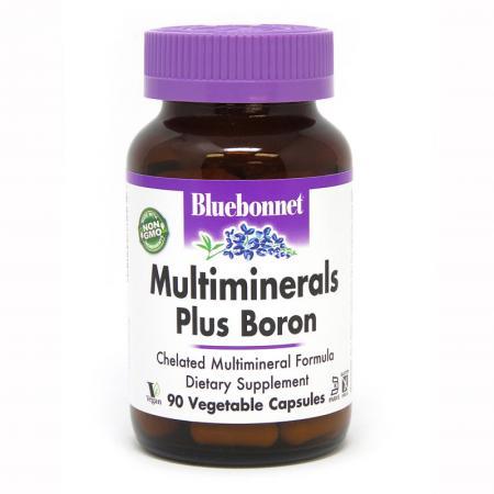 Bluebonnet Multiminerals Plus Boron, 90 вегакапсул