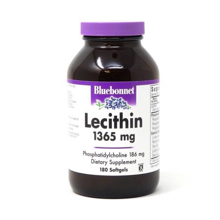 Bluebonnet Lecithin 1365 mg, 180 капсул