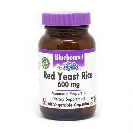Bluebonnet Red Yeast Rice 600 mg, 60 вегакапсул