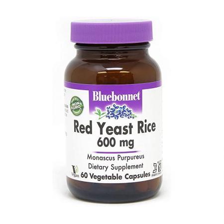 Bluebonnet Red Yeast Rice 600 mg, 60 вегакапсул