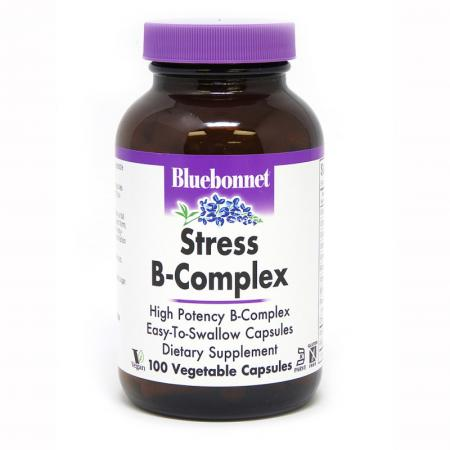 Bluebonnet Stress B-Complex, 100 вегакапсул