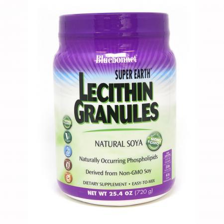 Bluebonnet Super Earth Lecithin Granules, 720 грамм