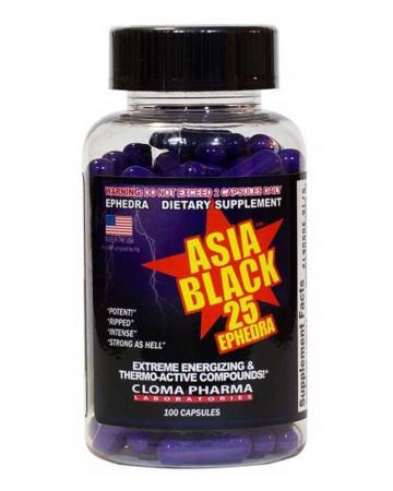 Cloma Pharma Asia Black, 100 капсул