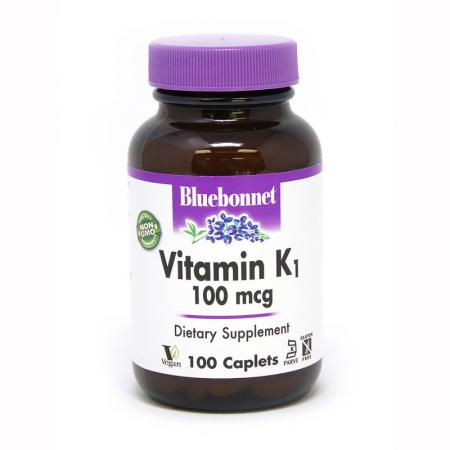 Bluebonnet Vitamin К1 100 mcg, 100 капсул