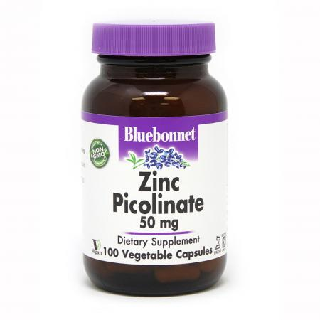 Bluebonnet Zinc Picolinate 50 mg, 100 вегакапсул