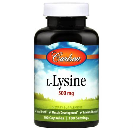 Carlson Labs L-Lysine 500 mg, 100 капсул