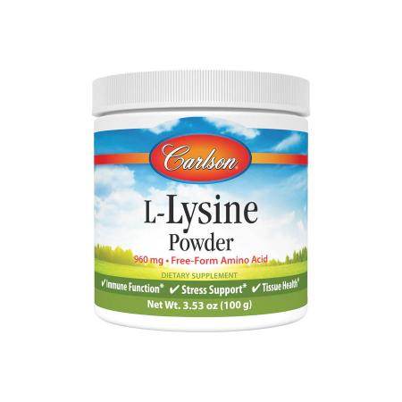 Carlson Labs L-Lysine Powder, 100 грамм