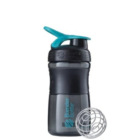 BlenderBottle SportMixer 590 мл, Black Cyan