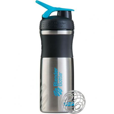 BlenderBottle SportMixer Steel 820 мл, Cyan