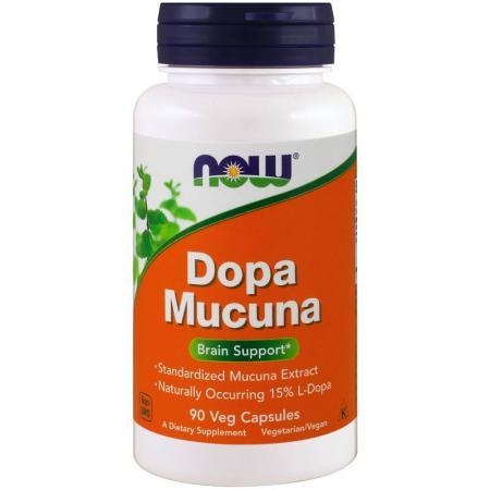 NOW Dopa Mucuna, 90 вегакапсул