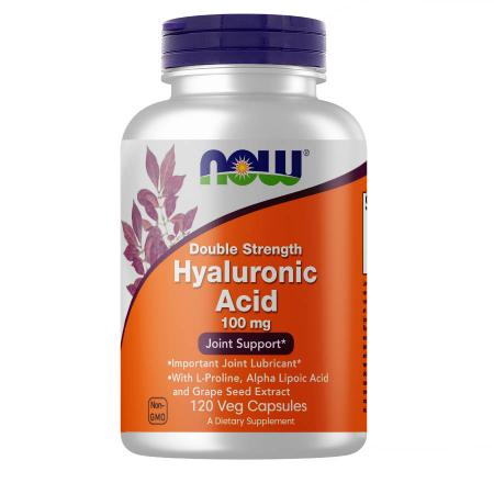 NOW Double Strength Hyaluronic Acid 100 mg, 120 вегакапсул