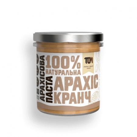 MasloTom арахисовая паста кранч, 300 грамм - стикло