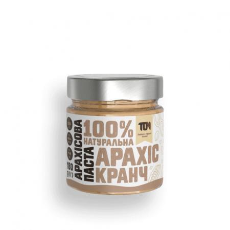 MasloTom арахисовая паста кранч, 180 грамм - стикло