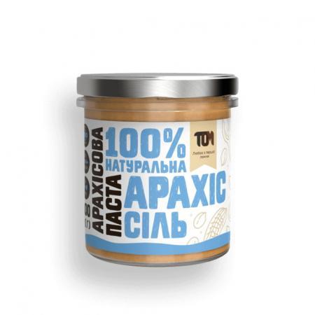 MasloTom арахисовая паста с солью, 300 грамм - стикло