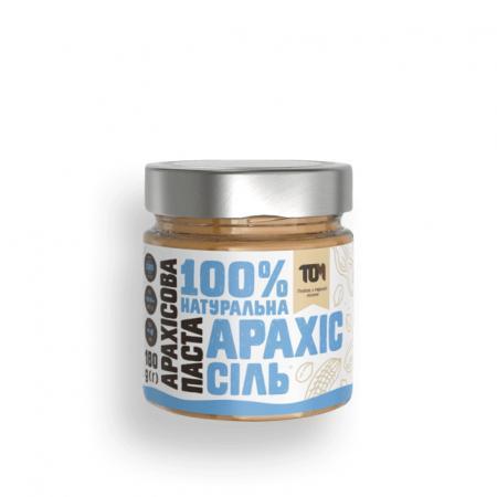 MasloTom арахисовая паста с солью, 180 грамм - стикло