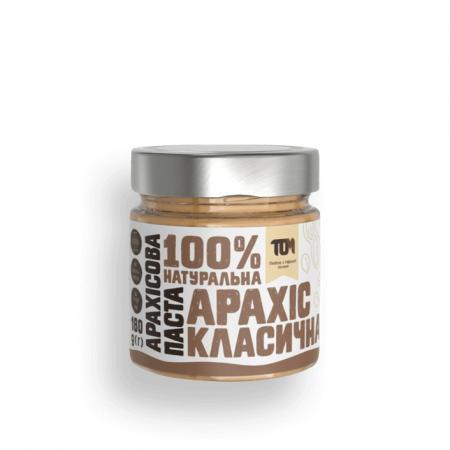 MasloTom арахисовая паста класическая, 180 грамм - стикло