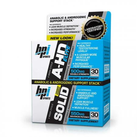 BPI Sports A-HD Elite + Solid, 2x30 капсул