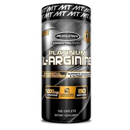 Muscletech Platinum 100% L-Arginine, 100 каплет