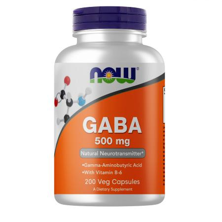 NOW Gaba 500 mg, 200 вегакапсул