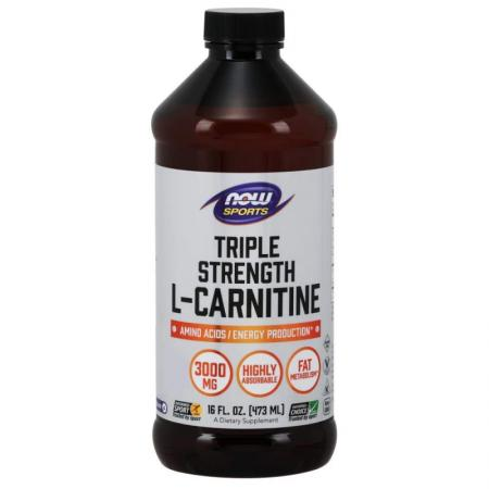 NOW Triple Strength L-Carnitine Liquid, 473 мл