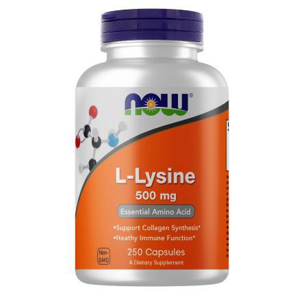 Now L-Lysine 500 mg, 250 капсул