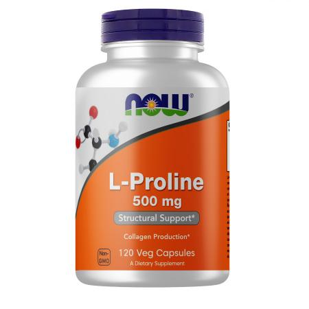 NOW L-Proline 500 mg, 120 вегакапсул