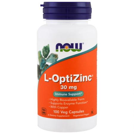 NOW L-OptiZinc 30 mg, 100 капсул