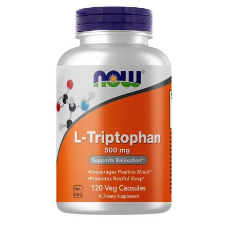 NOW L-Tryptophan 500 mg, 120 вегакапсул