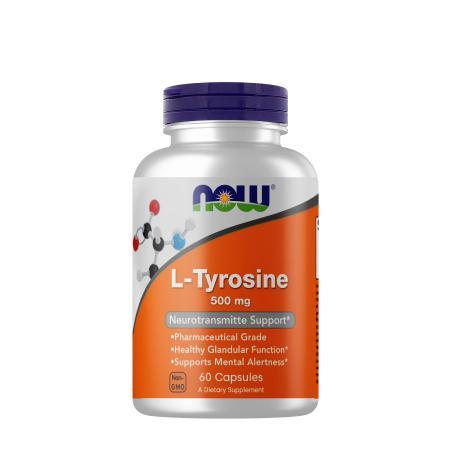 NOW L-Tyrosine 500 mg, 60 капсул