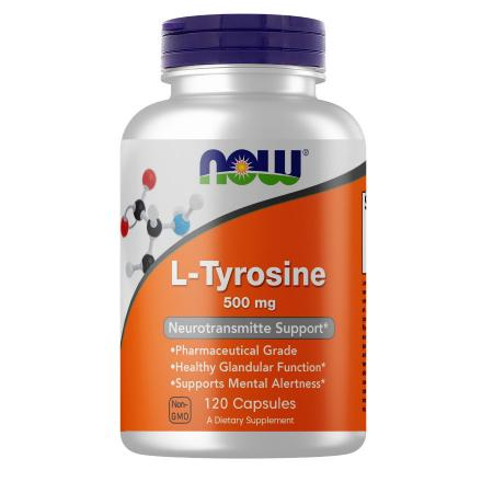 NOW L-Tyrosine 500 mg, 120 капсул