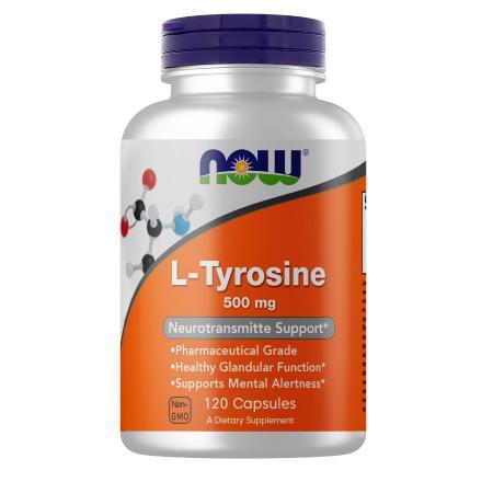 NOW L-Tyrosine 500 mg, 120 капсул