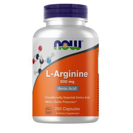 NOW L-Arginine 500 mg, 250 капсул