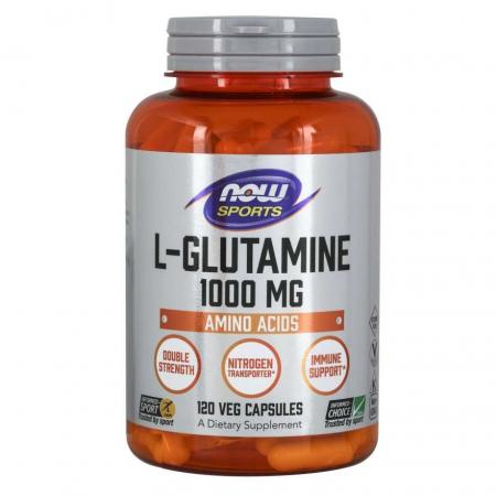 NOW L-Glutamine 1000 mg, 120 капсул